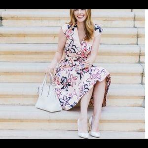 Gorgeous Kate Spade Tiger Lily Wrap Midi Dress.